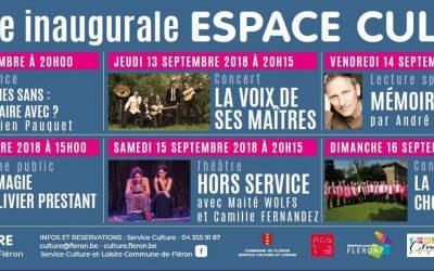 Semaine inaugurale de l'Espace culture